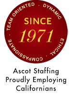 Ascot Staffing celebrating 45 years of Employing Californians